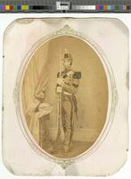 [Unidentified African American man in militia uniform] [graphic] / Cheston's 227 Lombard St., between 2d and 3d, Philadelphia.