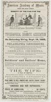 Benefit of the Fair for the Soldiers' and Sailors' Home. : The Typographical Dramatic Association have the honor to announce a grand performance at the Academy of Music, on Saturday ev'ng, Sept. 16, 1865, on which extraordinary occasion they will be assis