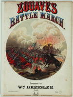Zouaves battle march: op. 88; composed by Wm. Dressler.