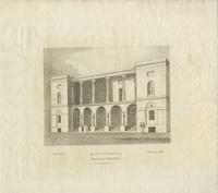 The new theatre in Chesnut [sic] Street Philadelphia [graphic] : Built 1822. Taken down 1856.