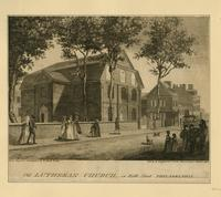 Old Lutheran Church, in Fifth Philadelphia [graphic] / Drawn, Engraved & Published by W. Birch & Son; Sold by R. Campbell & Co. No. 30 Chesnut [sic] St. Philada.