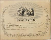 [Sunday School membership certificate] [graphic].
