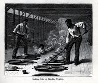 Making salt, at Saltville, Virginia [graphic] / Cullen.