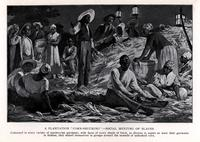 "A plantation ""corn-shucking"" -- social meeting of slaves [graphic] / H. Helmick."