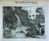 [How the gold is taken up in the river; Negroland] [graphic].