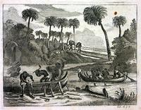 [Ehem, or little boats, and jenge-jenge, or African bridges, in Negroland] [graphic].