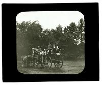 Fording to the Island. Boys Parlors Asso[ciation] first camp, Upper Delaware R[iver] [graphic].