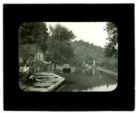 [Residences lining an unidentified canal] [graphic].