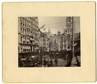 Centennial of the U.S. Constitution. 9 mo. 15, 16 + 17, 1887. The Arch at Broad and Chestnut, [Philadelphia] [graphic].