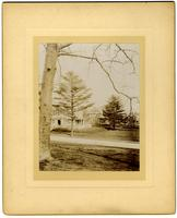Showing side of M[arriott] C. M[orris]'s house, Pelham Road in foreground [graphic].