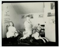 [Interior of playroom with Elliston P. Morris, Jr. and Marriott C. Morris, Jr.] [graphic].