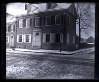Rear view of house cor[ner] of Main St. & School Lane, Site of pres[ent] Saving F[un]d Soc[iety] of G[erman]t[ow]n [graphic].