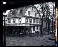 Old Morris House from workmen club house. Corner School La[ne] & Main St[reet, Germantown] [graphic].