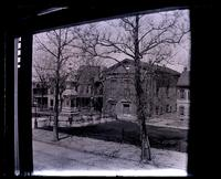 Monument in Market Square, & Old church across from 5442 [Germantown Avenue], taken from 2nd floor window [graphic].