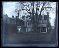 Our [Deshler-Morris] house [5442 Germantown Avenue] from elm tree in centre of garden [graphic].