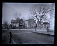 Market Square & houses on E. side of it, from bank pavement, School L[ane]. [Germantown] [graphic].