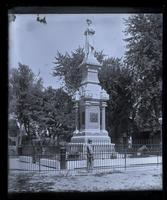 Soldiers Monument, Market Sq[uare] from down street, [Germantown] [graphic].