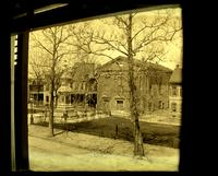 Monument in Market Square, & Old church across from 5442 [Germantown Avenue] taken from 2nd floor window [graphic].