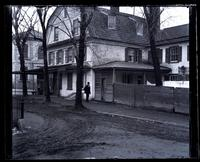 Old [De la Plaine] house, cor[ner] of Main St. & [illegible] School Lane, [Germantown] [graphic].