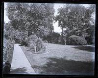 Looking down garden at Germantown from near the bean patch, [Deshler-Morris House, 5442 Germantown Avenue] [graphic].