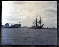 "Dry Dock & Flag ship Northampton from S. of camber, taken from ""Dispatch,"" [Bermuda] [graphic]."