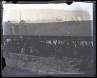 [Crowd at wharf, Hamilton to see Orinoco off, Bermuda] [graphic].