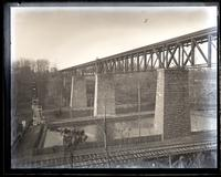 [New B & O Bridge over Brandywine. From rocks on N. bank]. [Wilmington, DE] [graphic].