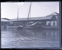 Wharf & shed, St. Georges from water, [Bermuda] [graphic].