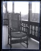 Old Marriott chair made by Isaac Marriott in 1680. [In back porch at Wilmington, DE] [graphic].