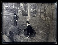 Mother & Mary Canby at the spring. Foot of Van Buren St., Brandywine, [Wilmington, DE] [graphic].