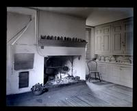 Kitchen fireplace in old Morris House at Cedar Grove [graphic].
