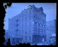 [Father's building, 715-17-19 Arch St. from H. Hellers 2nd story window, Philadelphia] [graphic].