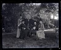 [Sallie, Mary, & Anne Emlen, Mr. Heins, Jennie Jones, Alice Shipley & Bess. Deshler-Morris House, 5442 Germantown Avenue] [graphic]