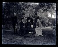 [Sallie, Mary, & Anne Emlen, Mr. Heins, Jennie Jones, Alice Shipley, Bess, & Marriott Morris. Deshler-Morris House, 5442 Germantown Avenue] [graphic].