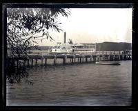 Steamer Sea Bird & dock at Oceanic from hotel grounds, [Monmouth Beach, NJ] [graphic].
