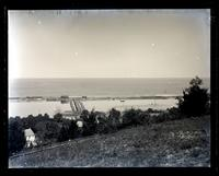 Shrewsbury R[iver] & Ocean from hill in front of [Navesink] lighthouse, [Sandy Hook, NJ] [graphic].
