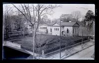 Friend's Library, graveyard, gymnasium & Primary school house. From roof of Ja[me]s] S. Jones' [drygoods] store, [4739 & 4745 Main Street, Germantown] [graphic].