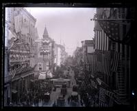 Chestnut St. looking E. from top of Wanamakers arch, [Constitutional Centennial Celebration, Philadelphia] [graphic].