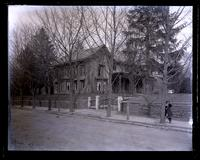 [Our old cottage, Church Lane & Chew Sts. From near Zell's gate, Germantown] [graphic].