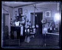 Anne M. Wistar's room at Howard Comfort's. Anne at desk [graphic].