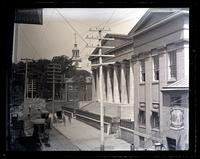[Custom House & E. end of State House from 4 & Library Sts. 2nd story. Philadelphia] [graphic].