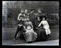 Group in our garden. Cos. Lill, Bells, Edith & Morris Wistar. Cos Lizzie, John & Anchen Morris & Bess. [Deshler-Morris House, 5442 Germantown Avenue] [graphic].