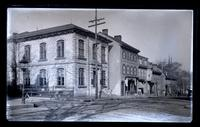 National Bank & old houses from there to Armat St. from cor[ner] of Market Sq[uare], [Germantown] [graphic].