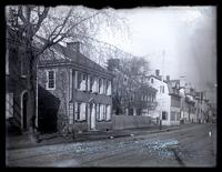 4774 Main St. [Bruner & George Livery] showing that side of street up to School Lane. From P[ost] O[ffice] [Germantown] [graphic].