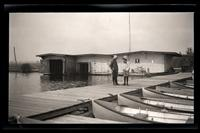 [Two boys on a dock], Pocono Lake, [PA] [graphic].
