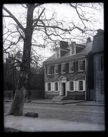 [View of Deshler-Morris House, 5442 Germantown Avenue, across a brick road, Germantown, PA] [graphic].