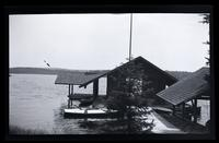 [Dock with rowboats], Pocono Lake, [PA] [graphic].