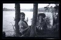 [Elliston Perot Morris Jr. and Marriott Canby Morris Jr. on the lakeshore], Pocono Lake, [PA] [graphic].