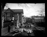 [Street and building construction of Germantown Boys' Club, 10 W. Penn Germantown] [graphic].