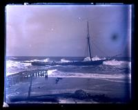 [Wrecked schooner A.M.S. Taunton, Sea Girt, NJ] [graphic].